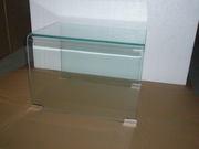 Стол стеклянный Вулкано,  набор их 3 столов,  цвет прозрачный - foto 1