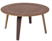 Стол деревянный Аме,  гнутая фанера,  цвет темный орех - foto 1
