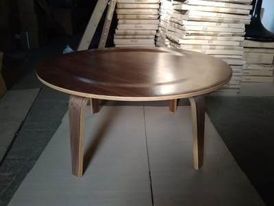 Стол деревянный Аме,  гнутая фанера,  цвет темный орех - main