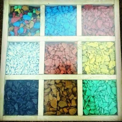 Декоративный цветной щебень,  различные цвета и фракции                 - main